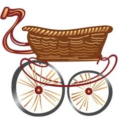 Cartoon Shopping Cart vector image