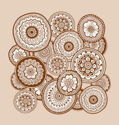 ethnic henna mehndi ornament indian background vector image vector image