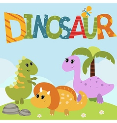 funny dinosaurs vector image vector image