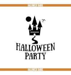 Halloween party house badge vector