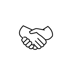 handshake of business partners icon vector image vector image