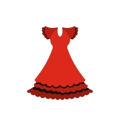 Red dress icon flat style vector image