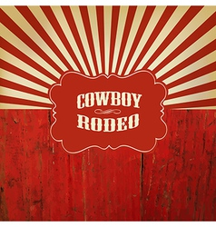 rodeo retro background vector image vector image
