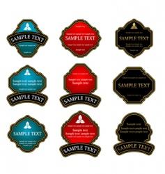 set of vintage labels vector image