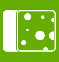 cheese icon green vector image