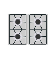Gas stove icon burner kitchen oven fire isolated vector