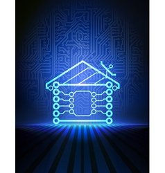 home automation concept vector image