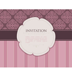 invitation back vector image vector image