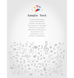 Musical frame5 vector image