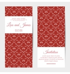 vertical wedding invitations vector image