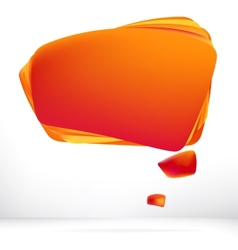 Abstract orange warm speech bubble EPS8 vector image