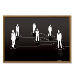 business blackboard vector image vector image