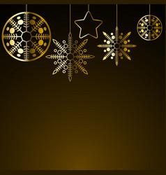 golden christmas decoration vector image