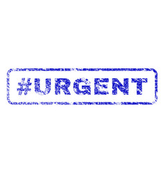 hashtag urgent rubber stamp vector image vector image