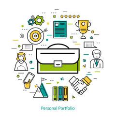 line art concept - personal portfolio vector image