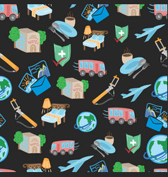 travel tour pattern vector image vector image