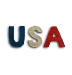 USA Word Text vector image