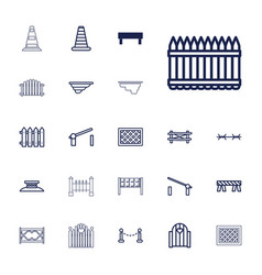 22 barrier icons vector