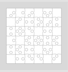 36 white pieces background puzzle jigsaw puzzle vector image