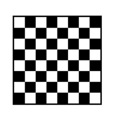 8x8 checker chess board or chessboard vector image