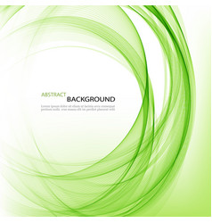 Abstract background round green wavy circle vector