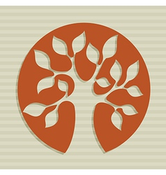 Abstract leaf tree design vector image