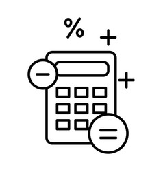 Accounting and finance outline symbol calculator vector