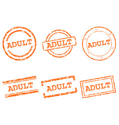 Adult stamps vector