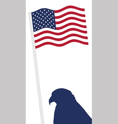 American Flag and eagle shape vector image