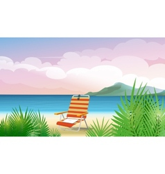 Beach vacation vector image