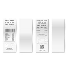 blank shop receipts vector image
