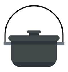 Camping pot icon flat style vector