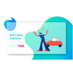 car accident on road aggressive driver arguing on vector image