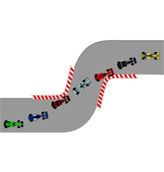 Chicane road circuit vector