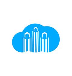 cloud city logo template vector image