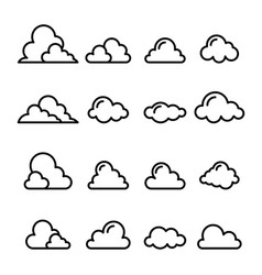 Cloud icon in thin line style vector