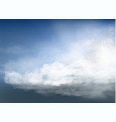Clouds and smoke on blue sky vector