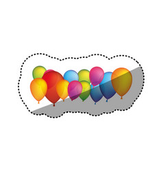 colored party balloons icon vector image vector image