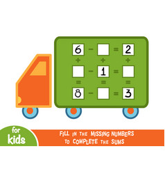 counting game for children educational a vector image