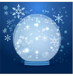 cute cartoon snow globe vector image