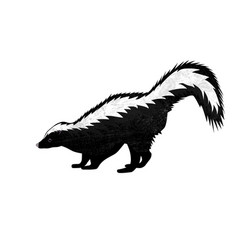 Cute skunk in flat style isolated on white vector