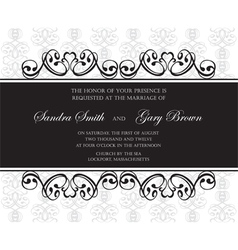 damask invitation or announcement card vector image