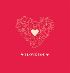 Declaration of love poster vector
