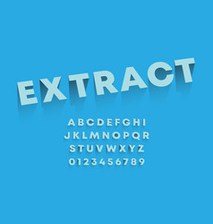 extract alphabet template set letters vector image