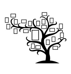 Family tree template with picture frames insert vector
