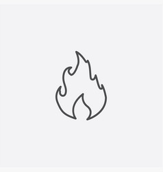 Fire outline icon vector