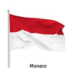 Flag principality monaco vector
