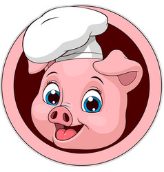 funny funny pig-cook vector image