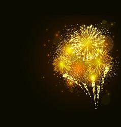 golden firework vector image