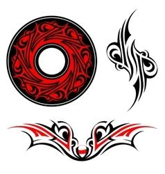 Gothic style tattoo shape set vector image